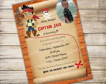 Jake and the Neverland Pirates Birthday Invitation