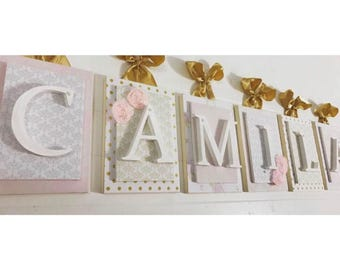 Nursery letters, Pink and gold nursery,Pink and gold nursery letters, Pink and Gold baby's room, Nursery Letters for girls, Girls nursery