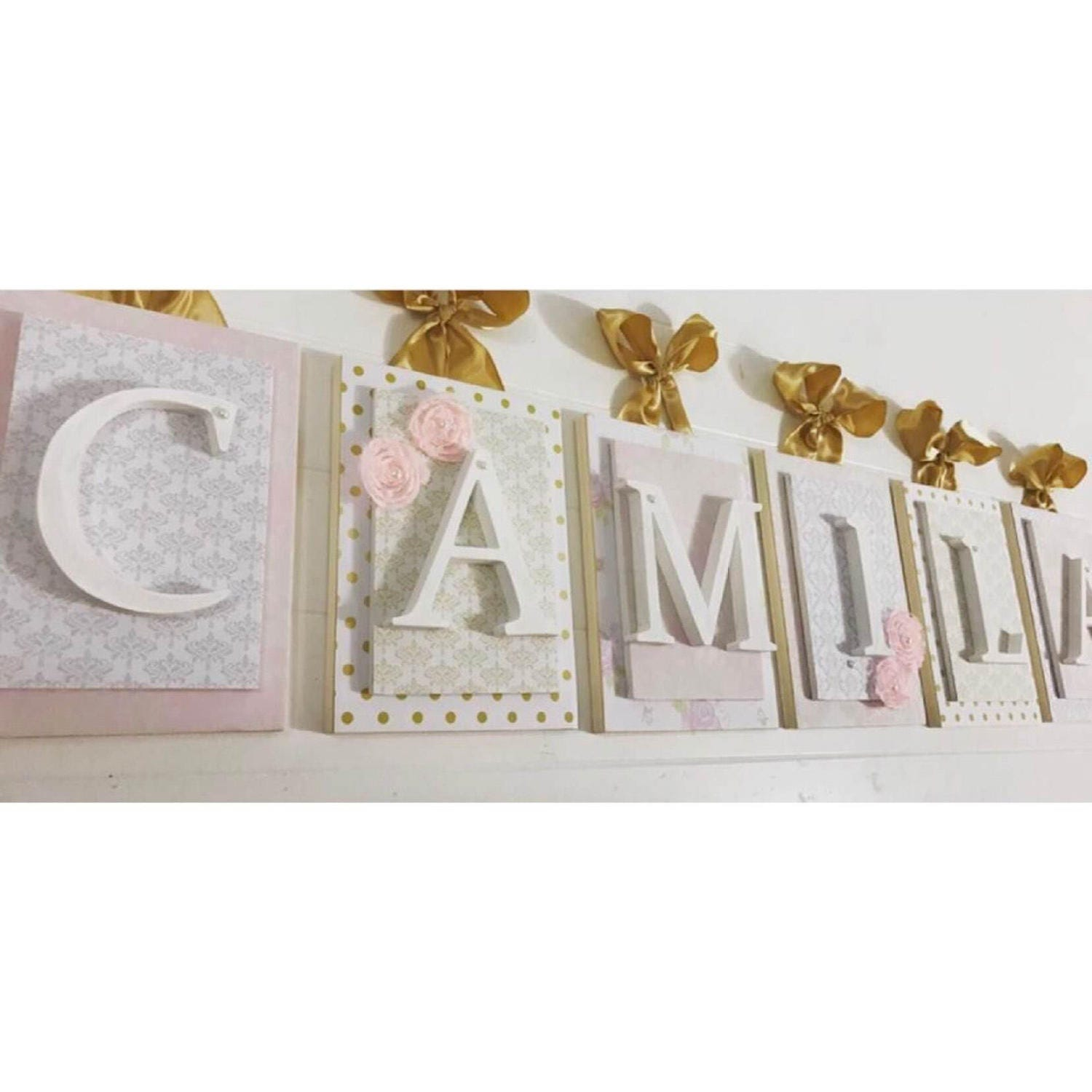 Gold Nursery Letters: Nursery Letters Pink And Gold NurseryPink And Gold Nursery