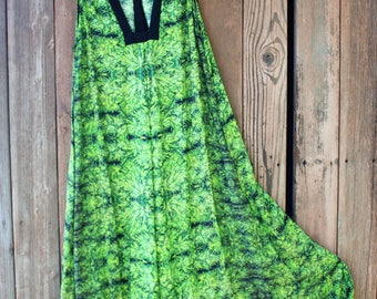 Maxi Dresses for Women Amnesia Kush , Resort Dress, Cruise Dress, Hawaiian Dress Women Large