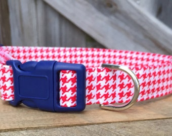 Red/White Houndstooth NON-MONOGRAMMED