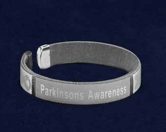 Parkinson's Disease Awareness Bangle Bracelet (1 Bracelet - Retail) (RE-B-22-7PK)