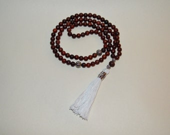 99 Sibha/Prayer Beads Cherrywood and Silver