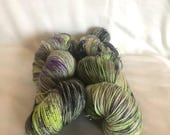 MothersDay Date Night: Scary Movies - Shiny sock Hand Dyed Yarn fingering/4ply/sock weight