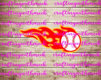 Baseball Flames SVG - Cricut Explore - Design Space