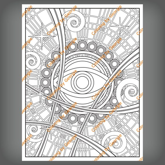 Dr Strange Inspired Coloring Page Of The Eye Of Agamotto