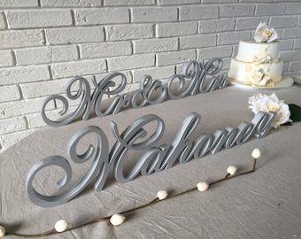 Custom sign family name wood sign Name wooden letters, Wedding sign, Wedding Decor Glitter or juat painted. Name personalized sign