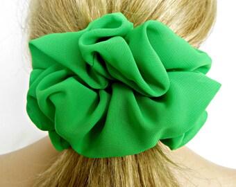Greenery Hair Accessory, #19 , Pantone Spring 2017, Pantone Greenery, Big Scrunchie