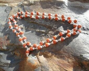 Silver Rudraksha Chain  | Five Mukhi Rudrakshas