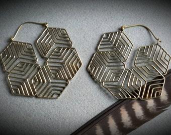 brass earrings *mandala*