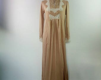 Vintage Lingerie wedding night gown long night dress lace