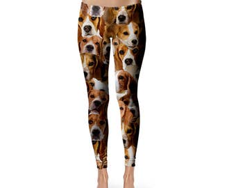 Beagles Leggings, Beagle Dog leggings