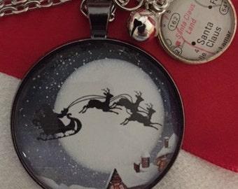 Santa's Sleigh Charm Necklace