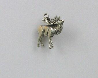 Sterling Silver 3-D Elk Charm