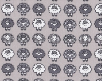 Sleepy Sheep - Grey - Stenzo Poplin