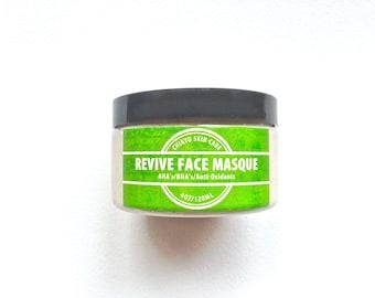 Face Mask, Glycolic Acid Mask, Lactic Acid Face Mask, AHA's & BHA's Face Mask, Rose Hip, Antioxidants, REVIVE Face Masque