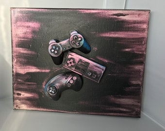 Game Controller Art - Playstation, Nintendo and Sega