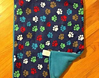 Small Animal, Cat & Ferret Hammock Pet Bed Paw Prints