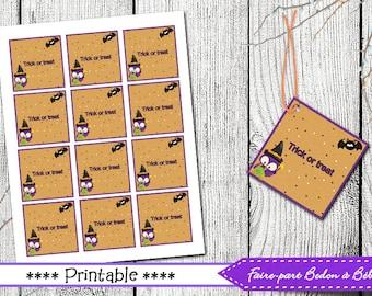 Halloween Printable Tags - Halloween favor tags printable, favor tags, Halloween tags, homemade Halloween favor tags, favor tags
