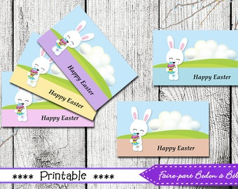 Easter tags easter gift favor tags set of 8 instant download easter tags easter gift tags printable easter printable tags easter printable negle Gallery