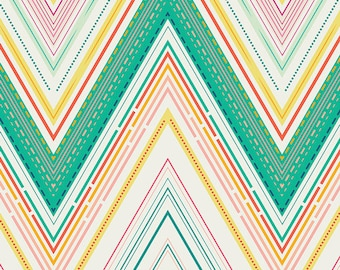 Art Gallery Joyful Fusions Vivacious Marvel- large scale chevron zig zag stripe fabric
