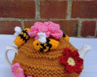 Hand Knitted Beehive Tea Cosy 1 -2 Cup Small