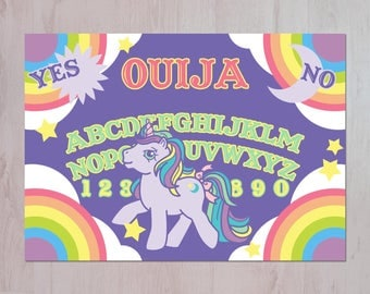 My Little Pony Ouija Board Illustration A3 Archival Fine Art Print