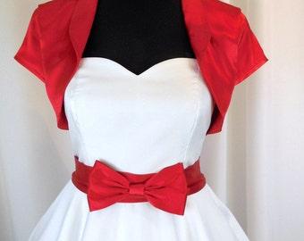 Bolero Satinfabric short sleeve