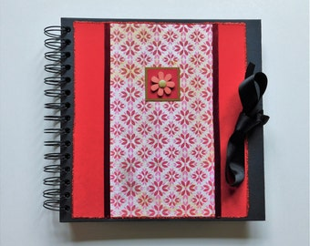 Scrapbook album, Photo gift for her, Teenager birthday ideas, Cute journal diary, Ringbound wedding album, Unique memory book for women.