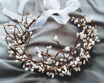 White Flower Crown Lace Ribbon