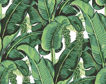 Banana Leaf Removable Wallpaper- Peel & Stick Self Adhesive Fabric Temporary Wallpaper-Removable-Wall Mural- FAST. EASY. Tropical Wallpaper