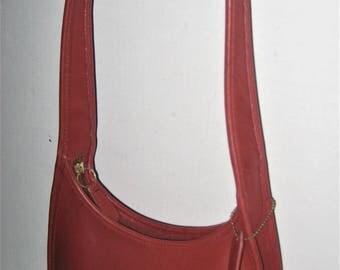 Coach Vintage LEGACY RED Mini Zip ERGO Hobo Shoulder Bag Satchel Purse #9020