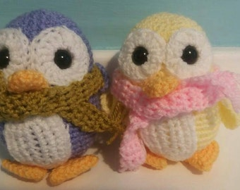 Crocheted Soft Toy Penguin