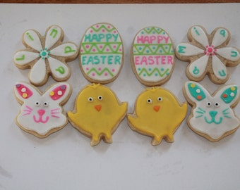 Personalized Easter Cookies! Bunnies, Chicks, Easter Eggs & More!