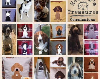 personalised dog cushions of your pet from your photos - reversible Cushion with a tail