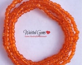 Orange Elastic Cord Waist Beads, Color Choices, body beads, belly chain, Boho Jewelry