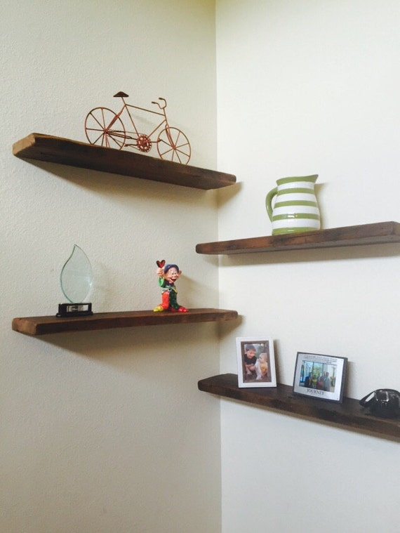 reclaimed barn wood floating shelves 4 40x6x2 by. Black Bedroom Furniture Sets. Home Design Ideas