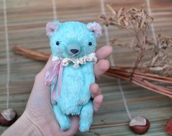 Artist teddy bear OOAK 6 inch tall handmade small