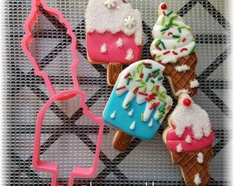 Ice Cream Cone / Ice Cream Bar Cookie Cutter