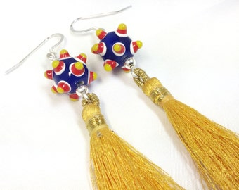 Fringe Benefits - Fringe Earrings, Colorful Fringe Earrings, Spring Jewelry, Spring Earrings.