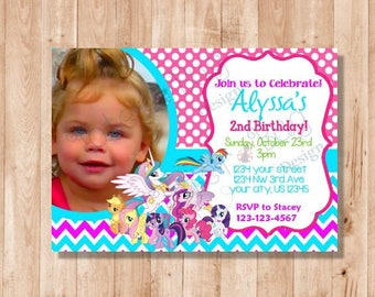 My Little Pony Printable Personalized Birthday Invitation