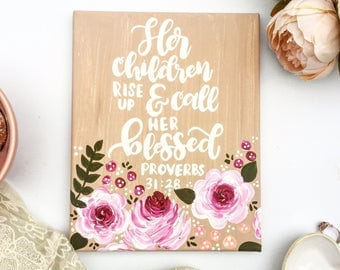 Proverbs 31:28, Mother's day, Gift for Mom, Mom Gift, Wife Gift, Gift for Her, Mom Gift Ideas, Mother's Day Gift, Gift Idea for Mom