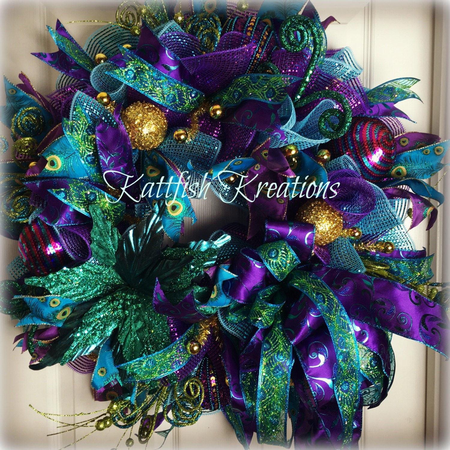 with gems gisela christmas just noseks graham clear decorations collections blue nosek tail s peacock decor glitter