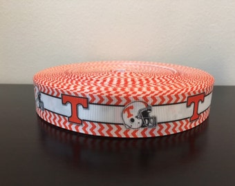 "1/3/5/7/10 Yards Tennessee Vols 7/8"" Grosgrain Ribbon"