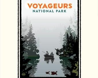 Landmark MN   National Parks Voyageurs Misty Lake by Mark Herman