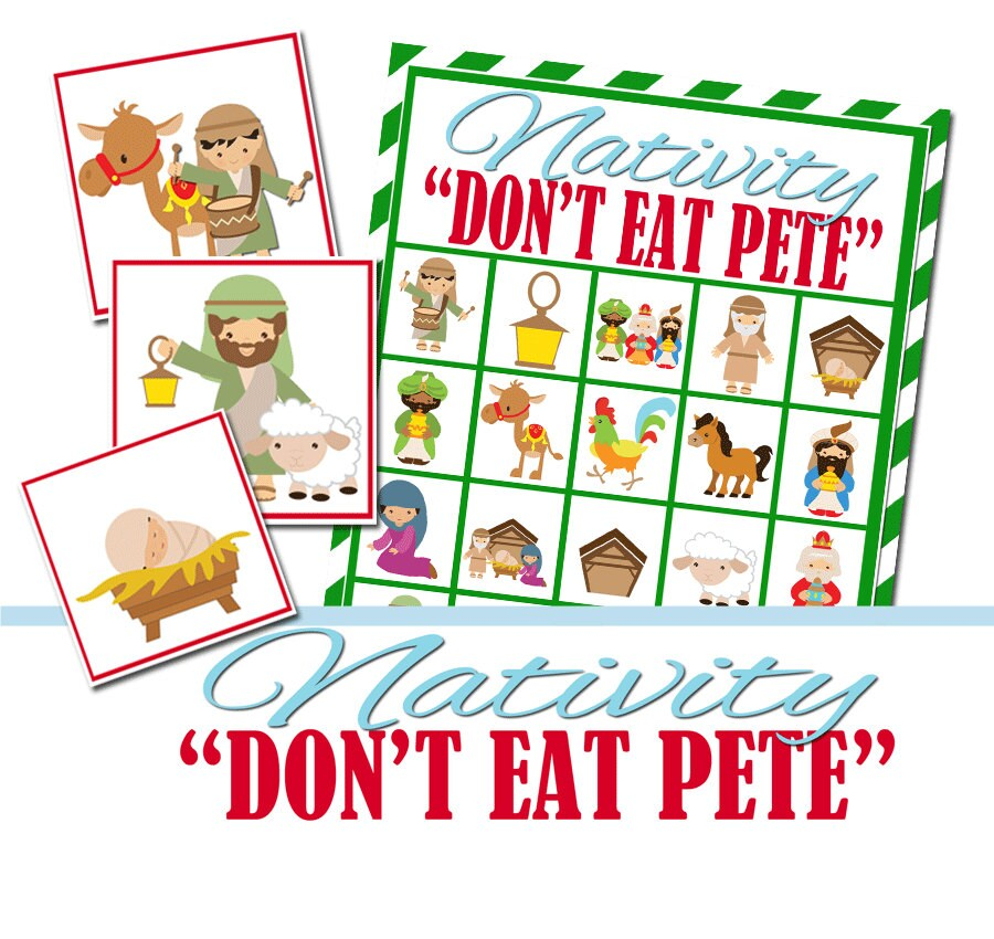 Group Games For Christmas Party: Nativity Christmas Party Game Don't Eat Pete Group Game