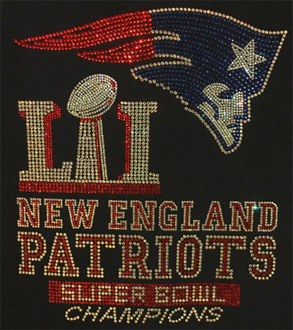 Patriots Super Bowl Bling Custom Design On Navy T Shirts And