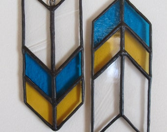 Stained Glass Arrow (Yellow / Blue - Set of 2)