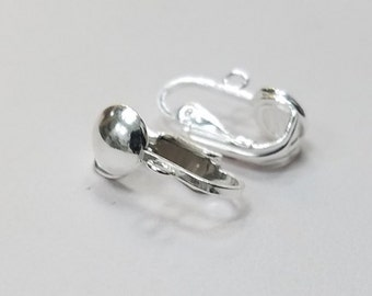 1 Pair - Sterling Silver Clip on Earrings, 925
