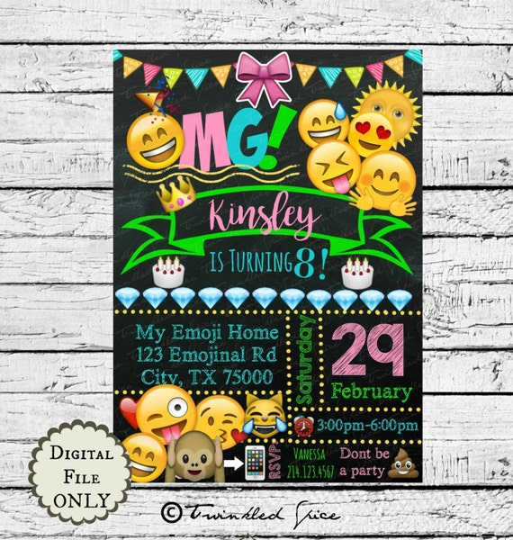 Emoji Printable Invitations